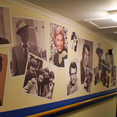Nostalgic Wall Covering Recogneyes Care Home And