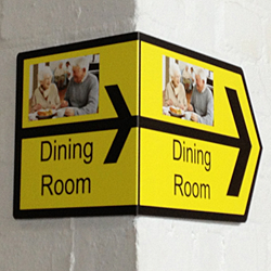 Corner Directional Signs