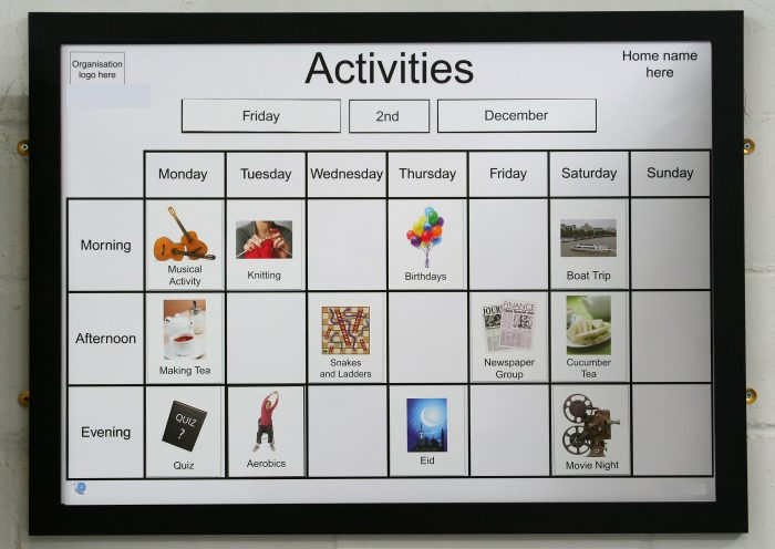 A1 Magnetic Activity Board Recogneyes Care Home And