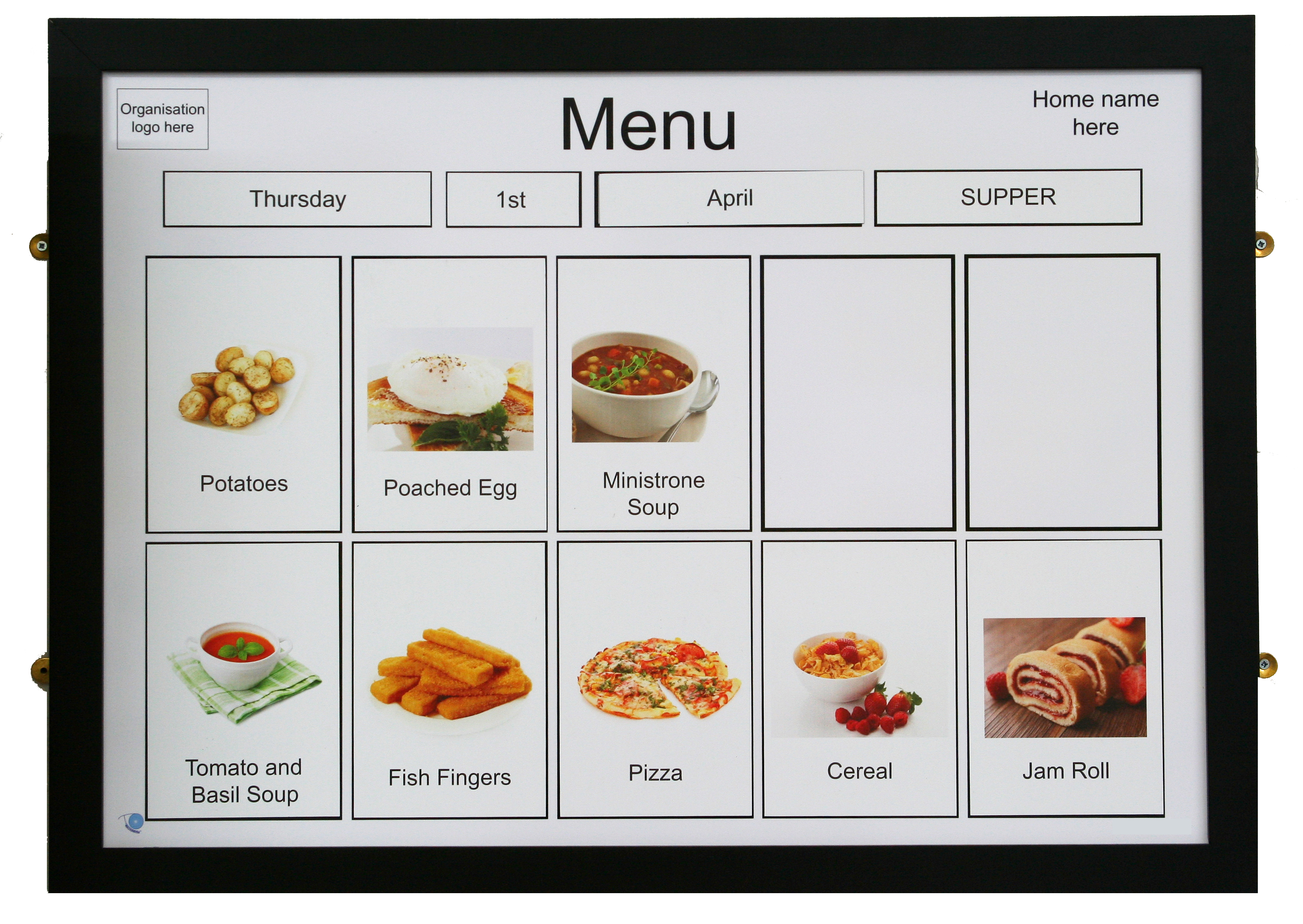 A1 Magnetic Menu Board - Recogneyes Care Home And Dementia ...